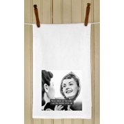 """Set of 4 Retro Style Photograph and Saying White Flour Sack Kitchen Hand Towels 29"""""""