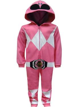 Mighty Morphin Power Rangers Pink Ranger Union Suit Pajama