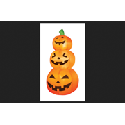 Occasions Pumpkins Lighted Halloween Inflatable Orange 4 ft. H x 19 in. W x 19 in. L