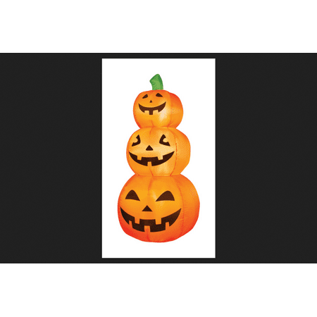 Occasions Pumpkins Lighted Halloween Inflatable Orange 4 ft. H x 19 in. W x 19 in. - Orange Halloween Pumpkins