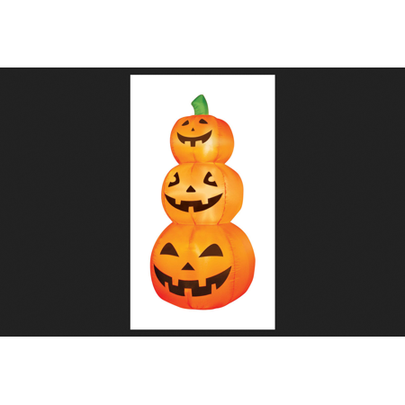 Occasions Pumpkins Lighted Halloween Inflatable Orange 4 ft. H x 19 in. W x 19 in. L - Halloween Pumkin