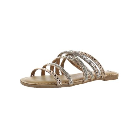 Not Rated Womens B Me Strappy Slide Flat Sandals