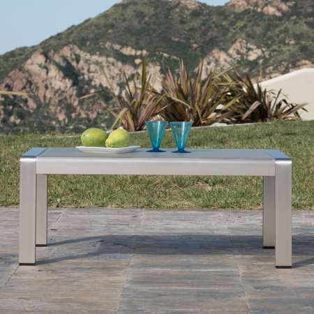 Cape C Outdoor Aluminum Coffee Table With Gl Top