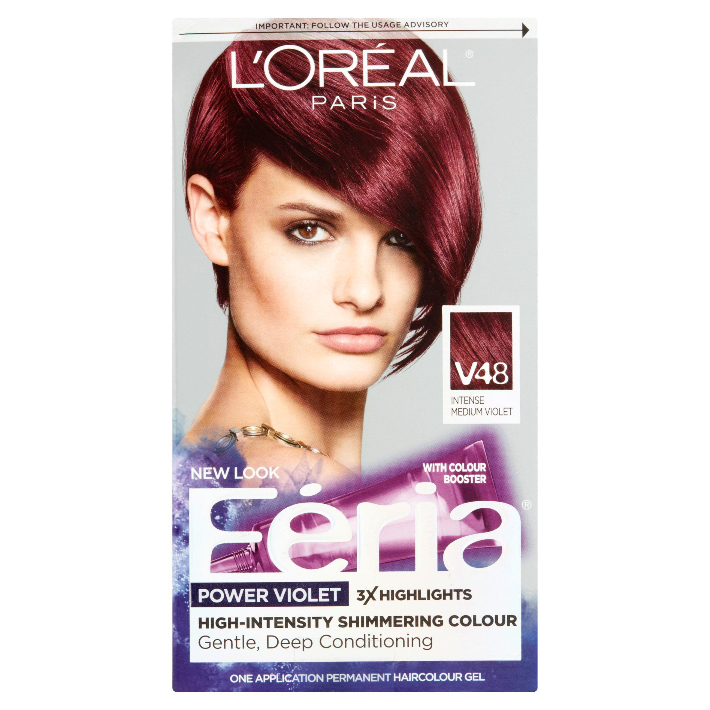 Loreal Paris Feria V48 Intense Medium Violet One Application
