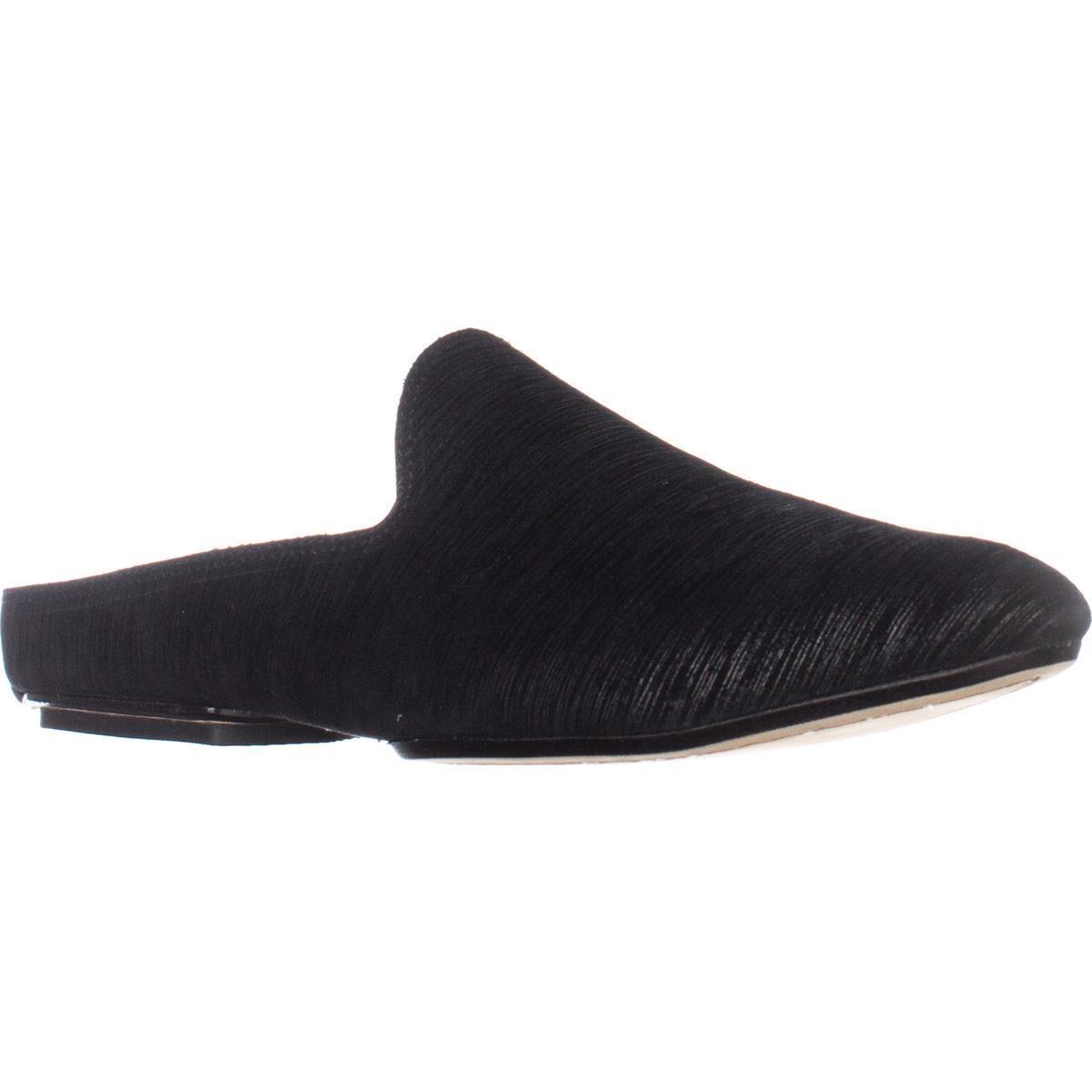 Womens Donald J Pliner Rue Flat Slip-On Mules, Black Black by Donald J Pliner