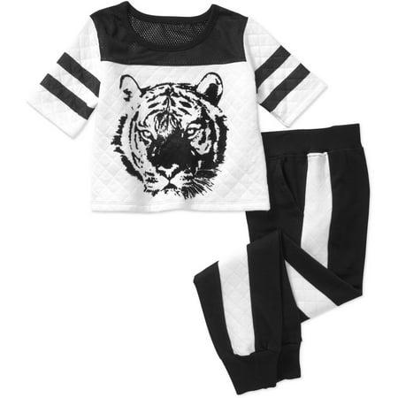 Hello Gorgeous Girls' Eddie J Jogger Tiger Set