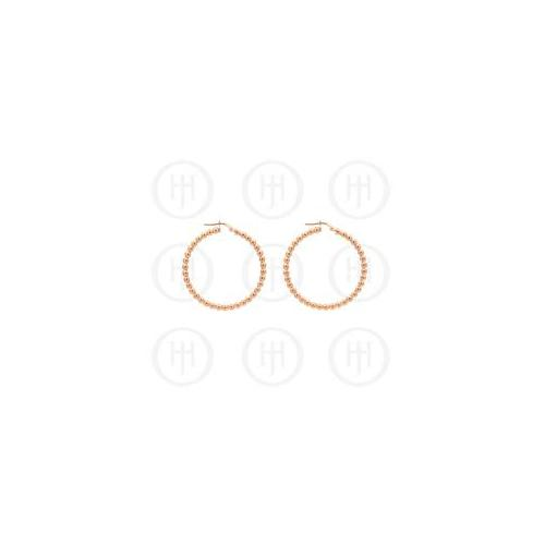 Doma Jewellery MAS07625 Sterling Silver -Fancy Italian Rhodium Plated Rose Colour Hoop Earring