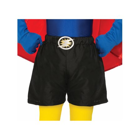 Female Boxer Costumes (Child Size Be Your Own Superhero Boxer Shorts Black Halloween Costume)