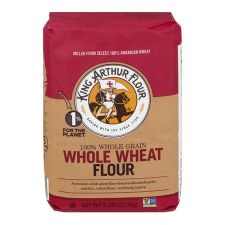 (2 Pack) King Arthur Flour 100% Premium Whole Wheat Flour 5 lb. (Difference Between Whole Wheat Flour And White Flour)