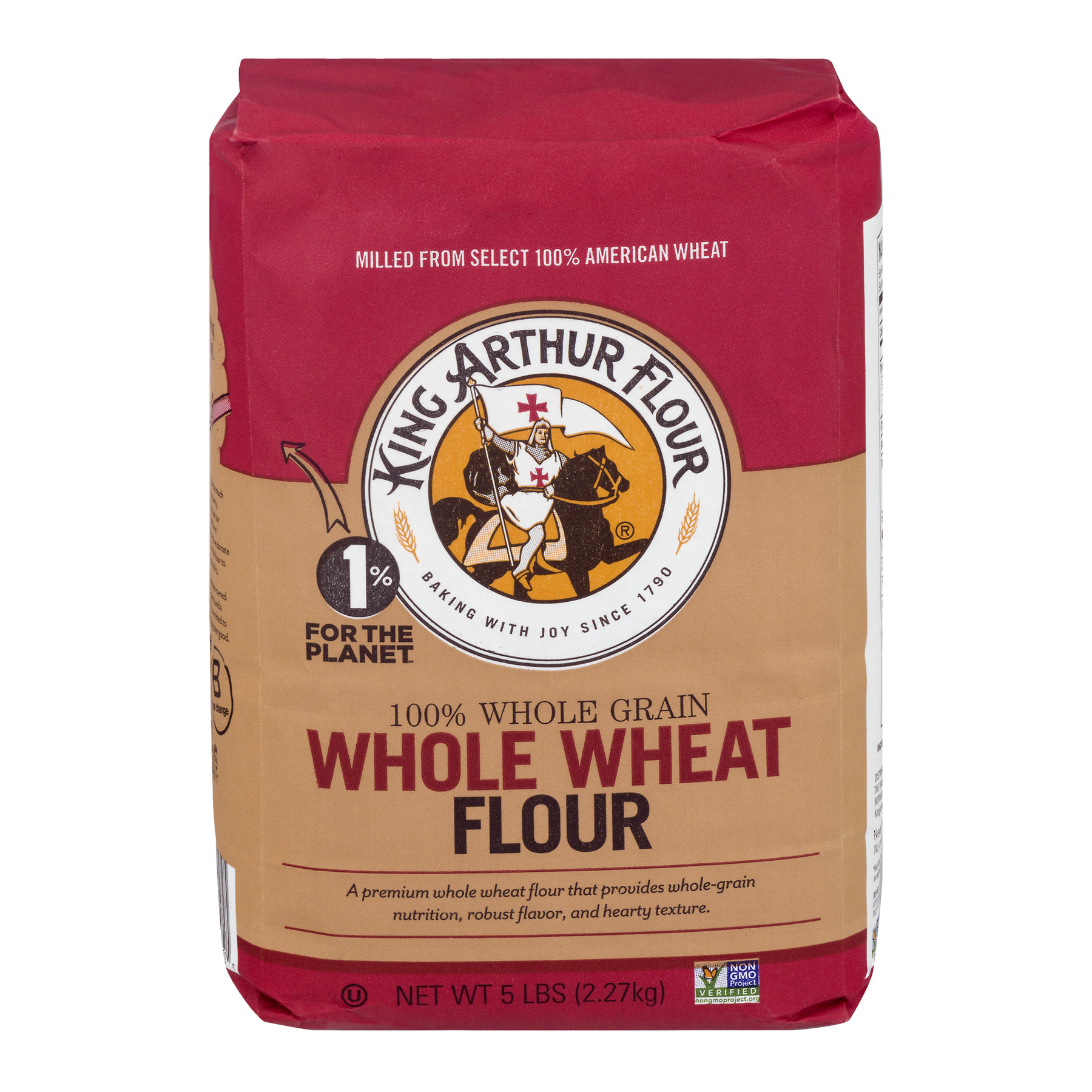King Arthur Flour Premium 100% Whole Wheat Flour, 5.0 LB