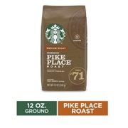 Starbucks Medium Roast Ground Coffee  Pike Place Roast  100% Arabica  1 bag (12 oz.)