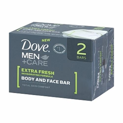 Dove Men+Care Body & Face Bar, Extra Fresh, 2 bars, 4.25 oz ea (Pack of 3)