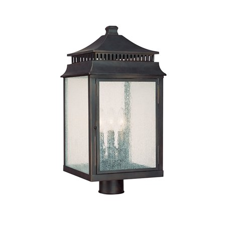 Traditional Classic 3 Light 22 Height Outdoor Post Lantern