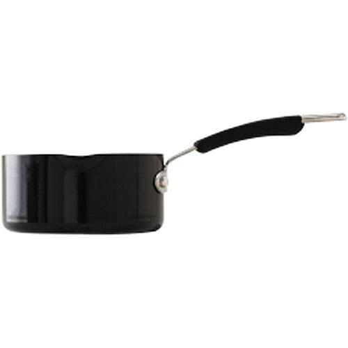 Better Homes and Gardens 1-Qt. Porcelain Enamel Nonstick Sauce Pan, Black