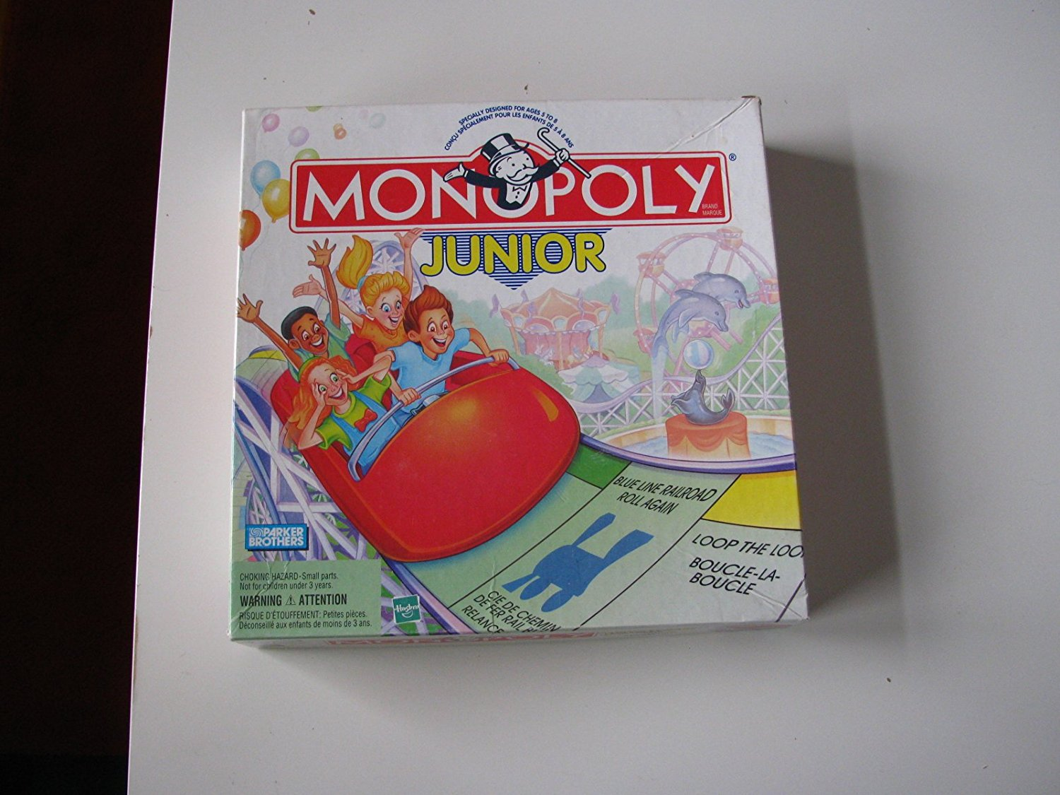 Parker Brothers Monopoly Junior Board Game 1999 Version, By Hasbro by