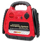 ROADPRO  RPAT-774 RECHARGEABLE EMERGENCY SYSTEM WITH 12-VOLT POWER PORT AND AIR COMPRESSOR