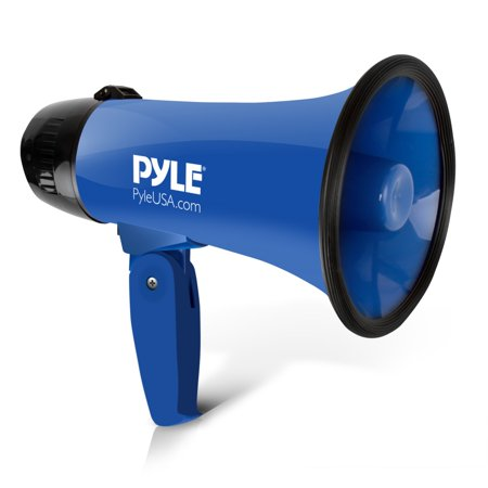 PYLE PMP21BL - Compact & Portable Megaphone Speaker with Siren Alarm Mode, Battery