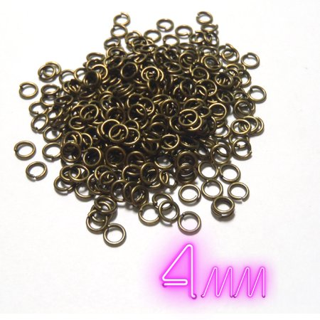 300 PCS - 4MM 23 Gauge Jump Ring Jewelry Finding Bronze Charm Pendant Connector C0705 (Jewelry Connectors)