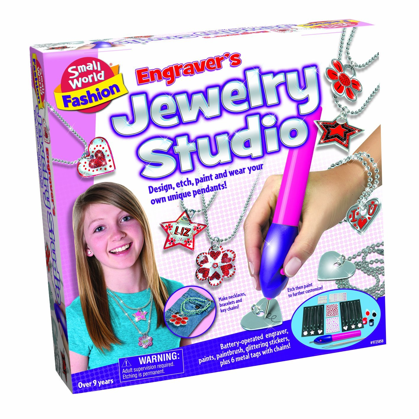 Fashion -Engraver's Jewelry Studio Craft Kit, Design and wear unique charms you make with the Engraver's... by