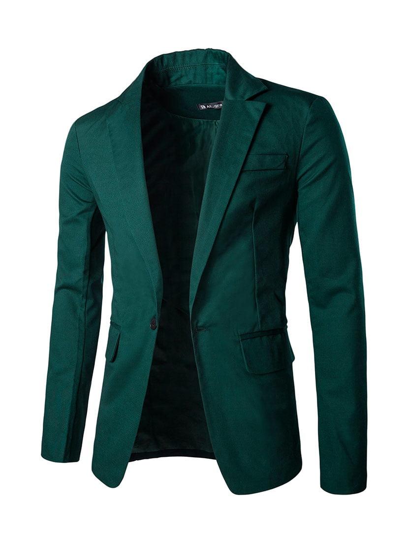 Azzuro Men's Classic Notch Lapel Suiting Blazer (Size L / 42)
