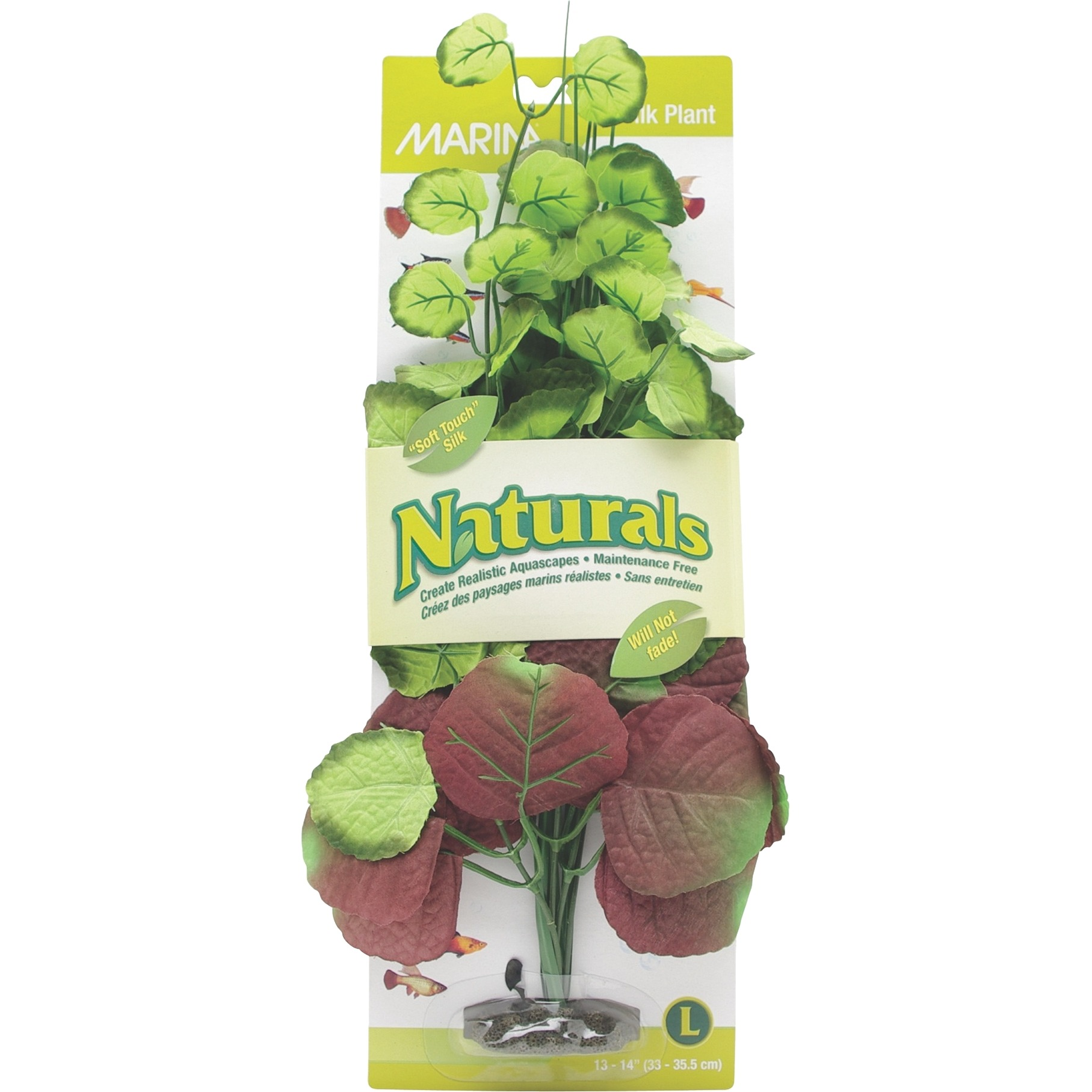 Marina Naturals Pennywort Silk Aquarium Plant, Large