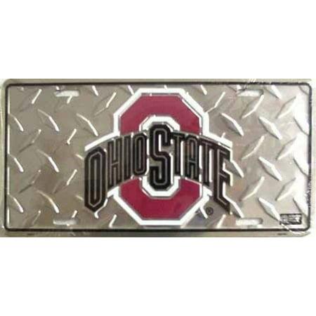 Ohio State Plates (Ohio State Buckeyes Diamond License)