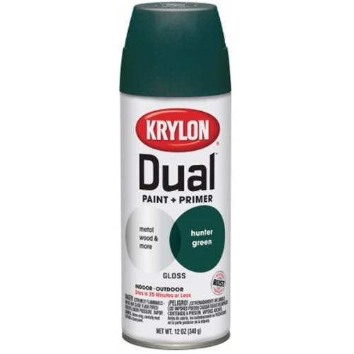 Dual Gloss Paint And Primer, Hunter Green Gloss Krylon Spray Paint 8808