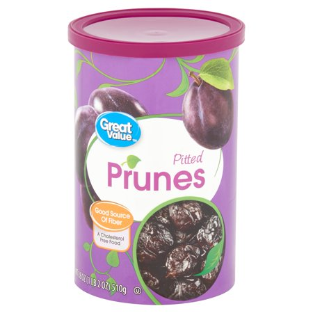 Great Value Pitted Dried Prunes, 18 Oz.