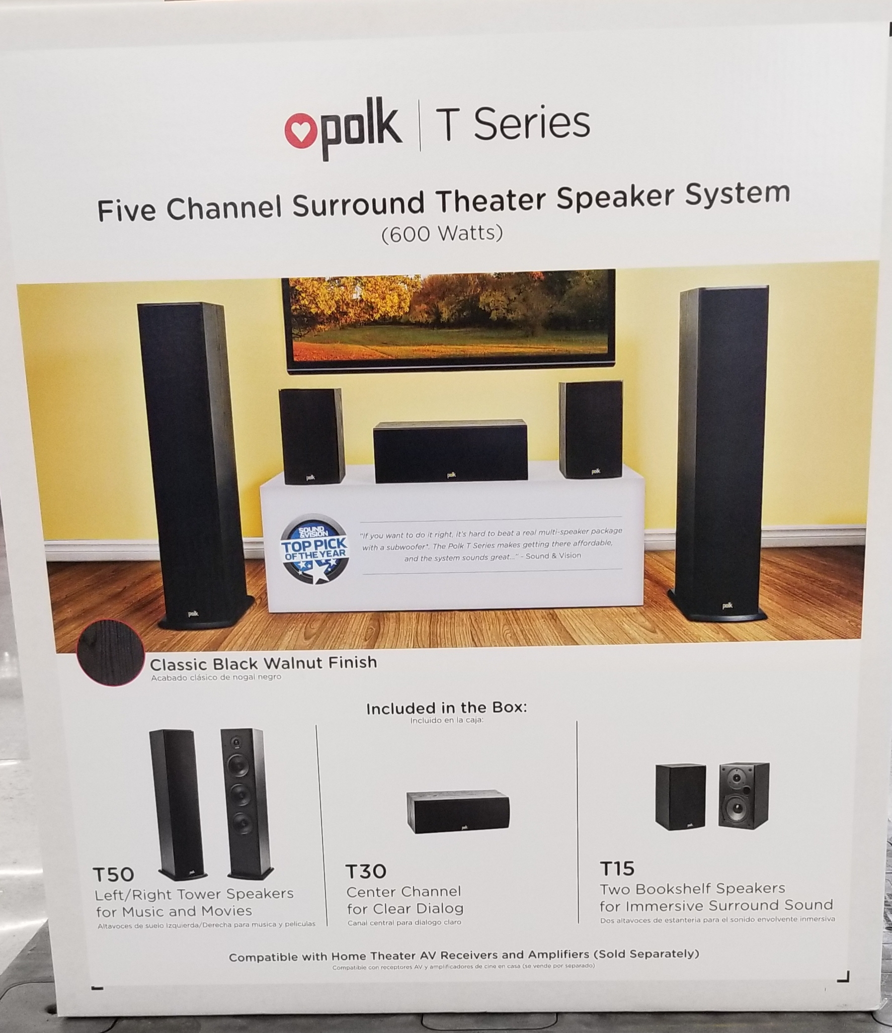 5 Channel Home Theater Speaker System