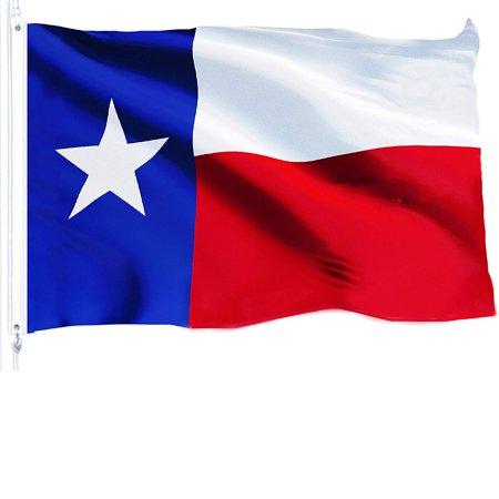 G128 Texas State Flag 150D Quality Polyester 3x5 ft Printed Brass Grommets Flag Indoor/Outdoor - Much Thicker and More Durable than 100D and 75D Polyester Illinois State Polyester Flag