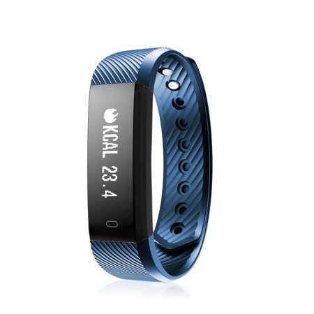 Diggro ID115 Smart Bracelet Bluetooth 4.0 Pedometer Calorie Sleep Monitor Call/SMS Reminder Sedentary Reminder Without Heart Rate for Android (Best Call Blocker For Android Without Ringing)