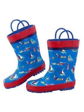76ce14a7ec0 Product Image Stephen Joseph All Over Nautical Print Rain Boots