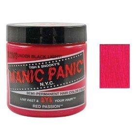 Manic Panic Semi-Permament Haircolor Red Passion 4 Ounce Jar