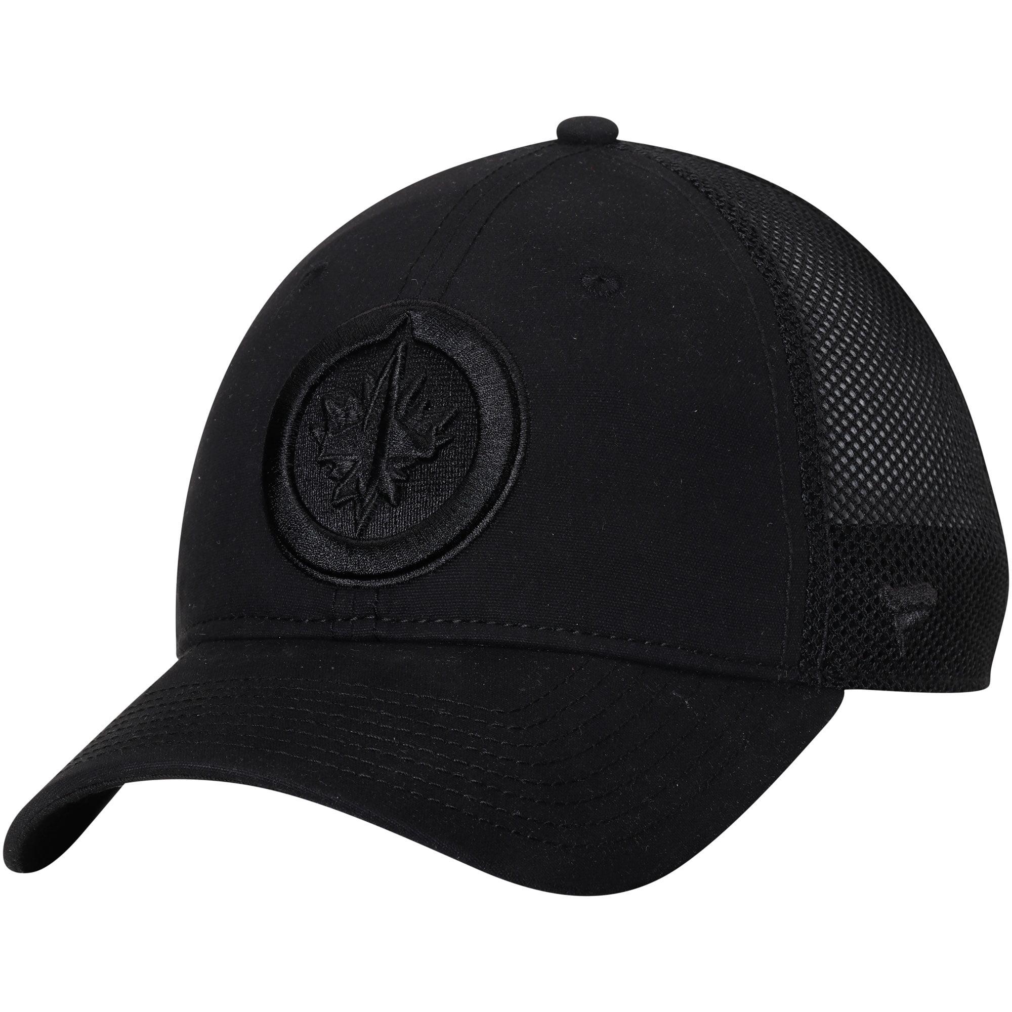Winnipeg Jets Fanatics Branded Indestructible Blackout Trucker Adjustable Snapback Hat - Black - OSFA
