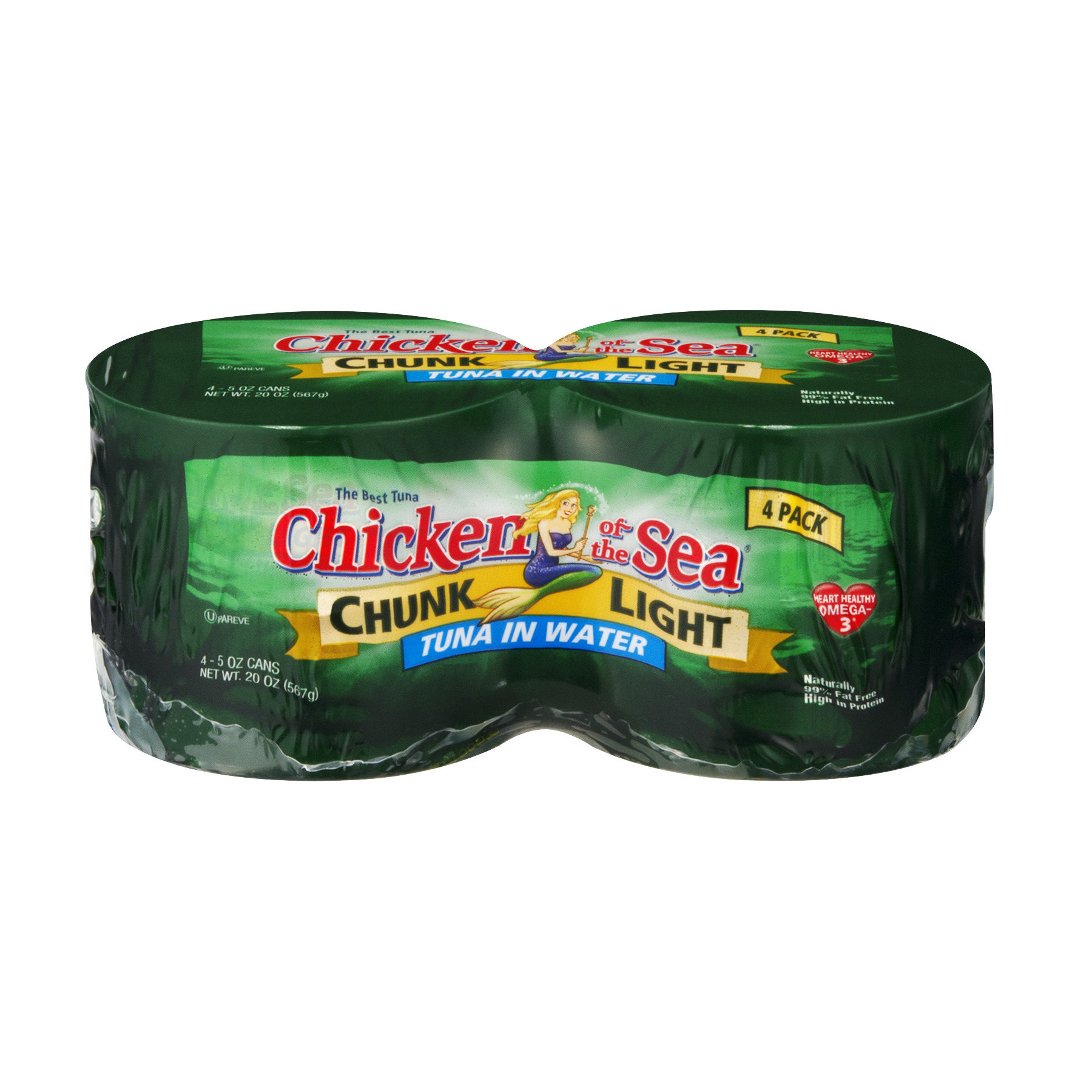 Chicken of the Sea® Chunk Light Tuna in Water 5 oz 4 ct Wrapper