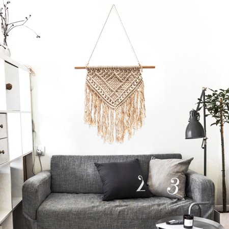 Hands Hanging (Handmade Macrame Wall Hanging Tapestry BOHO Chic Home Decorative Interior Wall Decor Bohemian Ethnic Apartment Dorm Room Art Decor Living Room Bedroom Decorations )