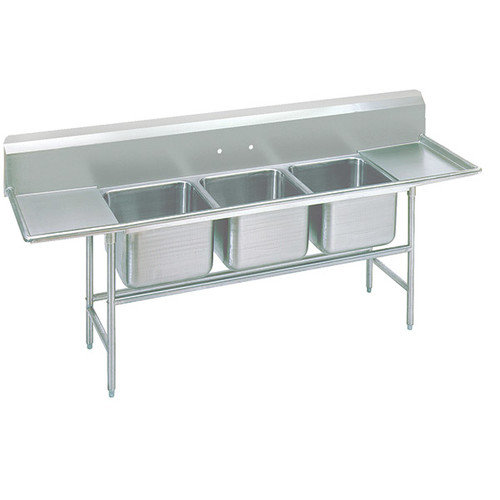 Image of Advance Tabco 115 Three Compartment Sink,2 Drain Boards 9-23-60-24RL