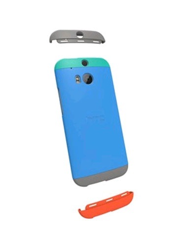 HTC Double Dip Case for HTC One (M8) Teal Swing Blue Gray by HTC
