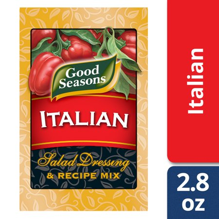 (2 Pack) Good Seasons Italian All Natural Salad Dressing & Recipe Mix, 4 - 0.7 Oz Boxes