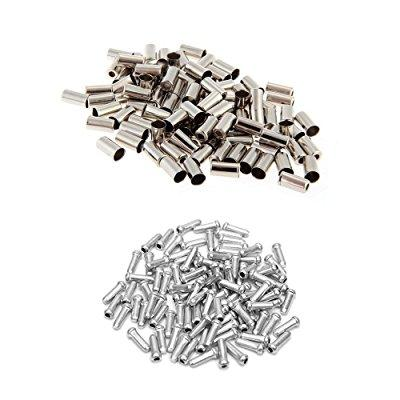 100pcs Silver Aluminum Bicycle Brake Shifter Inner Cable Tip Wire End Caps Cr G3