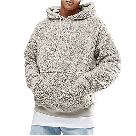 Hurley Hooded Sweater (Men's Teens Casual Plush Hooded Men's Winter Spring Warm Sweater with Big)