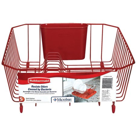 rubbermaid antimicrobial dish drainer small red. Black Bedroom Furniture Sets. Home Design Ideas