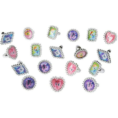 My Little Pony Party Bag Fillers (My Little Pony Party Favor Jewel Rings,)