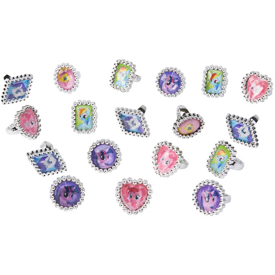 My Little Pony Party Favor Jewel Rings, 18ct