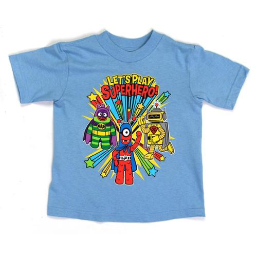 "Yo Gabba Gabba ""Let's Play Superhero"" Toddlers Blue T-Shirt"