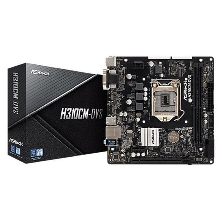 ASRock H310CM-DVS LGA 1151 (300 Series) Intel H310 SATA 6Gb/s USB 3.1 Micro ATX Intel