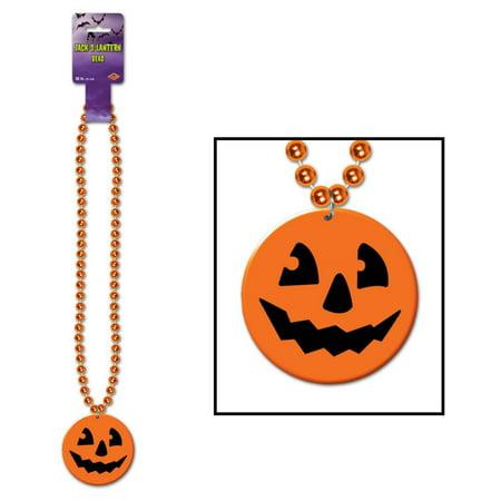Beads w/Printed J-O-L Medallion Halloween Stuff to Wear (Qty of - Halloween Medallions