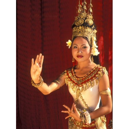 Traditional Dancer and Costumes, Khmer Arts Dance, Siem Reap, Cambodia Print Wall Art By Bill Bachmann (Plano Bill Dance)