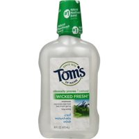 Tom's of Maine Long Lasting Wicked Fresh Mouthwash, Cool Mountain Mint 16 oz (Pack of 2)