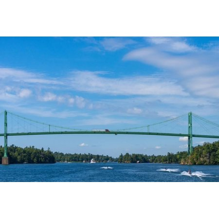 International Bridge (Thousand Islands international bridge in Ontario, Canada Print Wall Art)
